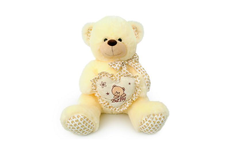 Мягкая игрушка Мишка с сердечком музыкальный 6396\40 сидячий 40 см