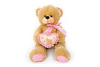 Мягкая игрушка Мишка с сердечком музыкальный 6396\60 сидячий 60 см