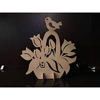 """Сборная деревянная модель с красками """"Корзина с тюльпанами"""" 90008 Вудмастер"""