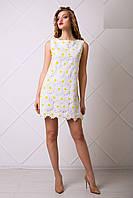 Очаровательное Белое Платье с Кружевом Ромашки XS-XL