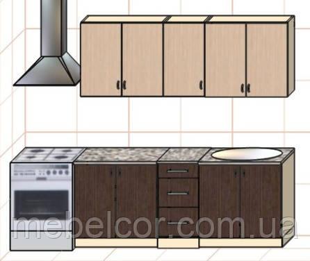 """Кухня """"Оптима"""" длина 2,0 м - вариант №2"""