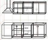 "Кухня ""Оптима"" длина 2,0 м - вариант №3, фото 3"