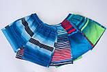 Чоловічі шорти в лінію (плащівка), синього кольору, фото 5