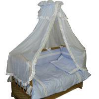 """Комплект с балдахином в детскую кроватку. """"Алёнка"""""""
