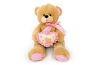 Мягкая игрушка Мишка с сердечком музыкальный 6396\70 сидячий 70 см