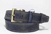 Ремень кожаный 'BlueJeans' 40 мм джинсовый тертый прошитый