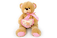 Мягкая игрушка Мишка с сердечком музыкальный 6396\80 сидячий 80 см