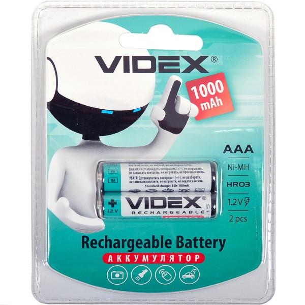 Аккумулятор Videx HR03  (ААА) 1000 mAh