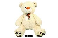 Мягкая игрушка Мишка с шарфом музыкальный JX6547-1\85 сидячий 85 см.