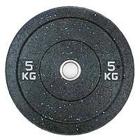 Бамперный диск для штанги 5кг Stein Hi-Temp с цветными вкраплениями для дома и спортзала, Киев