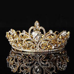 Диадема свадебная Корона круглая Теона украшения