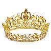Діадема весільна Корона кругла Теона прикраси, фото 9
