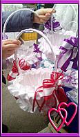 Свадебные корзинки для лепестков 2 банта