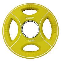 Профессиональный диск 1,25 кг полиуретановый Stein TPU Color Plate для дома и спортзала