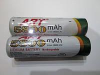 Аккумулятор ART  Li-ion 18650  3,7 вольт 5800  мА/ч