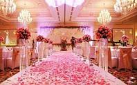 Лепестки роз красно-розовые светлые 300 шт
