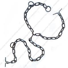 Цепь для привязи КРС 4 мм (трёхконцевая для скота)