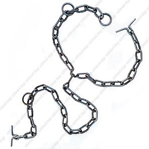 Ø 5 мм / Трёхконцевая цепь для привязи КРС / ВРХ / Скота / Коров, фото 2