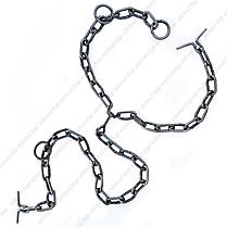 Ø 7 мм / Трёхконцевая цепь для привязи КРС / ВРХ / Скота / Коров, фото 2