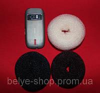 Бублики для волос, D: 9-10 см, В НАЛИЧИИ 2 ЦВЕТА (светлый, черный)