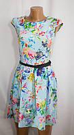 Разноцветное летнее платье для стильной девушки