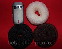 Бублики для волос, D: 11-12 см, В НАЛИЧИИ 1 ЦВЕТ (черный)