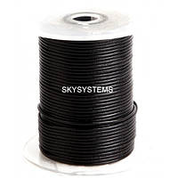 2,5 мм Кожаный шнурок   Цвет: Черный (Австрия)