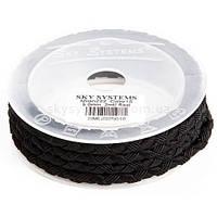Шелковый шнур Милан 222 | 5.0 мм Цвет: Черный 01