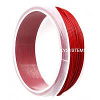 1,0 мм Кожаный шнурок   Цвет: Красный