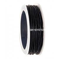 1,0 мм Кожаный шнурок   Цвет: Черный