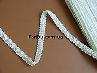 """Цветная тесьма """"шанель шубная"""" белая, ширина 1.2см (1 упаковка-50 метров)"""