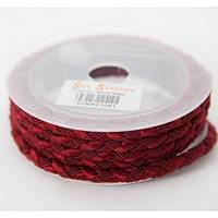 Шелковый шнур Милан 222 | 5.0 мм Цвет: Бордовый 15