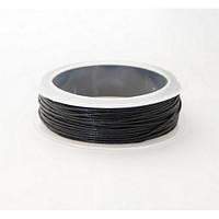 1.0 мм Гладкий вощеный шнур Скай | Цвет: Черный 01