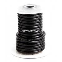 5,0 мм Кожаный шнурок   Цвет: Черный (глянец)