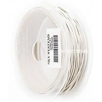 1,0 мм Кожаный шнурок   Цвет: Белый
