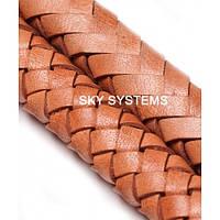 11 x 7 мм, Бежевый/1 | Плетеный плоский кожаный шнур | (SKY Австрия)
