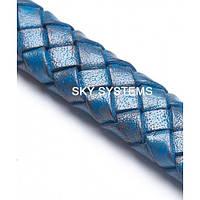 11 x 7 мм, Синий | Плетеный плоский кожаный шнур | (SKY Австрия)