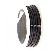 2.0 мм Гладкий вощеный шнур   Цвет: Черный