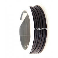 3.0 мм Гладкий вощеный шнур   Цвет: Черный