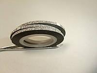 Стрічка з блиском, 2мм срібло