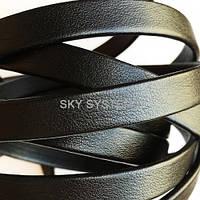 Плоский кожаный шнур | 10,0 x 2,0 мм, Цвет: Черный матовый (Испания)