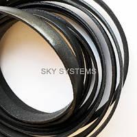 Плоский кожаный шнур | 10,0 x 2,0 мм, Цвет: Черный глянцевый (Испания)