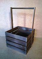 Ящик деревянный декоративный с ручкой, коричневый, 32х30х45 см, фото 1
