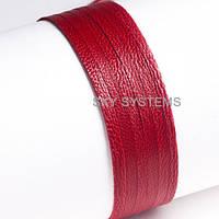 Кожаная лента | 5,0 х 0,7 мм, Цвет: Красный антик