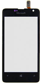 Тачскрин (сенсор) Microsoft Lumia 430 Dual Sim (RM-1099) ORIG, black (черный)