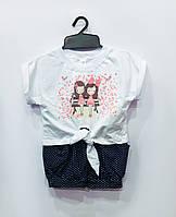 Трикотажный костюм Девчушки (большие размеры), интерлок