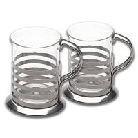 Набор из 2-х стеклянных чашек, 200 мл