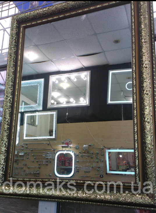 Зеркало в раме 800*1000, ширина багета 10 см