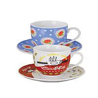 Набор Чайный (6 чашек 170мл с блюдцами) (Helios 3445)