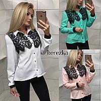 Красивая блузка с кружевом в расцветках
